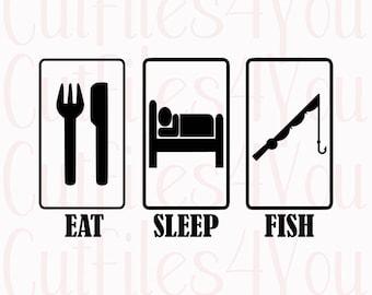 Eat Sleep Fish svg, Fisherman SVG, Fishing life, trendy shirt design, love fishing shirt design, fishing Pole, htv ready design