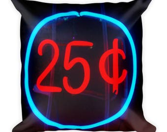 25 Cents Square Pillow