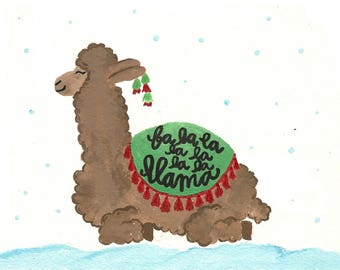 Fa la la llama - Christmas Holiday Card