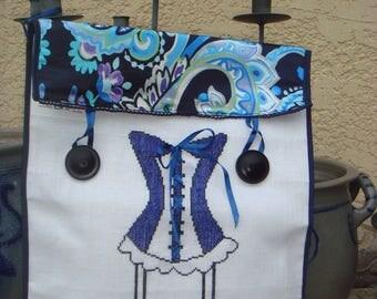 My Blue Corset lingerie bag