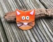 Fused Glass Cat / Cat Ornament