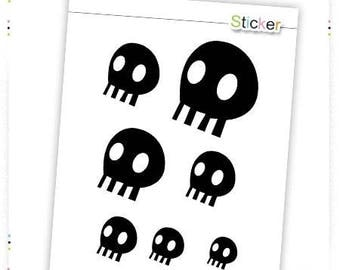 Stickers black sugar skulls