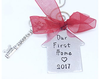 Our first home christmas ornament, realtor gift, new home Christmas couples gift, Christmas ornament, new home ornament, new home gift, new