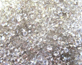 5 OZ OF CRYSTAL GREY SMOKE TAPERED HAS 3 MM FACET IN BULK