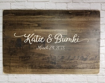 Wooden Guest Book Alternative, Unique Wedding Guestbooks, Wedding Guestbook, Wood Guestbook Sign, Beautifully Engraved Wedding Guestbook