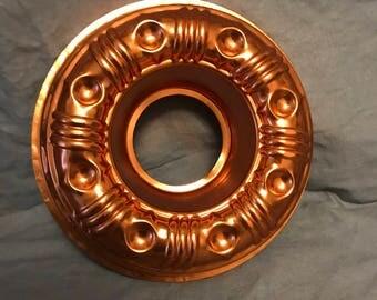 "8.5"" Copper Bundt cake pan. 3.5 cups. Copperware"