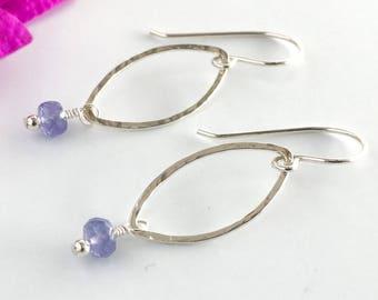Long Earrings for Women - Tanzanite Earrings - Birthstone Earrings December - Statement Earrings for Women