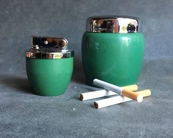 Vintage lighter and cigarette dispenser