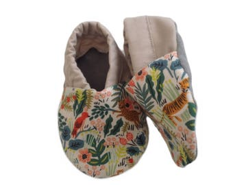 Jungle Soft Sole Baby Shoes, booties, pram shoes