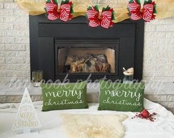 On Sale - 3 Digital Christmas backdrops
