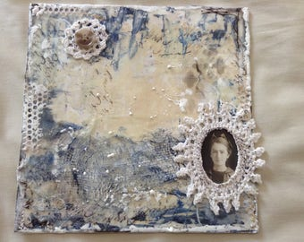 mixed media encaustic collage