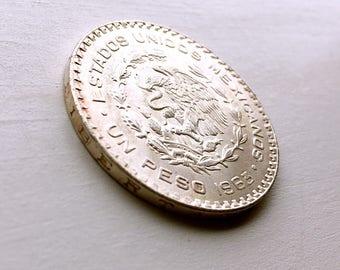 Silver Mexican Peso 1963