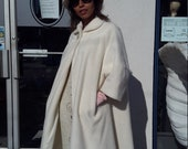 Cream color white 1950 swing coat plus size FREE SHIPPING RCMooreVintage