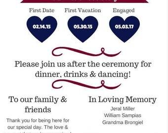 Infographic Wedding Program - Custom*