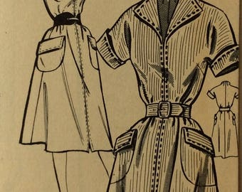 Mail order 2720 misses dress size 14 bust 32 vintage 1950's sewing pattern  Factory folds