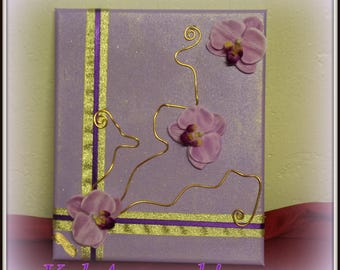 louane canvas purple and gold
