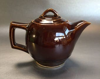 2 Cup McCoy USA Brown Betty Vintage Teapot Dark Brown Classic