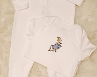 Peter Rabbit baby set, Peter Rabbit New Baby Gift, Peter Rabbit Baby Shower, Baby Shower Gift, New Baby Gift, Beatrix Potter Gift.