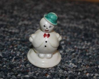 Baby Rattle Vintage Baby Rattle Baby Toy Snowman