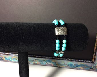 BW-205 - Turquoise memory wire bracelet