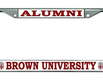 Brown University Alumni Chrome License Plate Frame