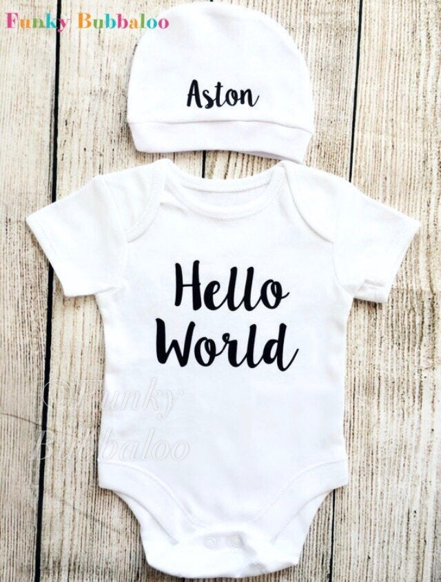 New Baby Gift Little Brother Coming Home Newborn Boys Take Me Home Outfit Boys Baby Shower Gift Sibling Outfit Personalized Baby Hat