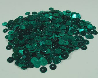 GLITTER SEQUINS 6MM EMERALD GREEN