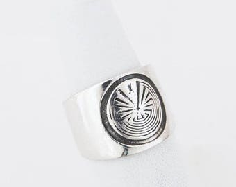 ON SALE Navajo Man in the Maze Ring,Sterling Silver Ring,American Indian Ring,Native American,Man in the Maze,Free Ship in USA