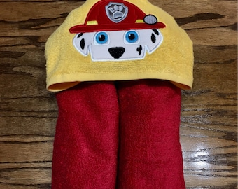 Paw Patrol Masrshall Hooded towel for kids or toddlers