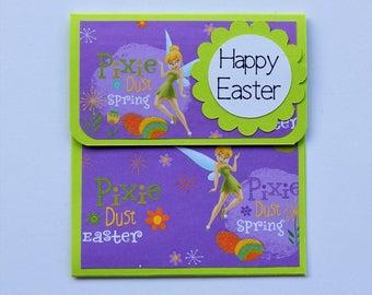Tinker Bell Easter Gift Card Holder//Easter Card Holder//Gift Cards//Children's Gift Card Holder//Happy Easter Gifts//Party Favors//Easter