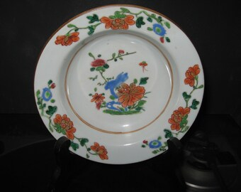 chinese famille rose bowl plate 18th c
