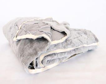 Sheepskin Throw | Gray Bed Throw | Gray Throw | Sofa Throw | Gray Throw | Sheepskin Area Rug | Gray Sheepskin Rug