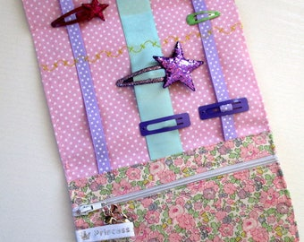 Pink clutch barrettes and elastics Liberty of London Betsy Ann