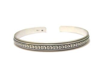 "Ethnic ""Angra"", Sterling Silver Bangle Bracelet"