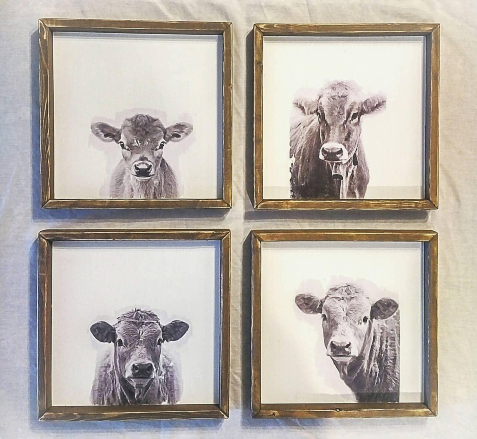 Cow Wall Decor. Cow Kitchen Decor. Cow Print. Farmhouse