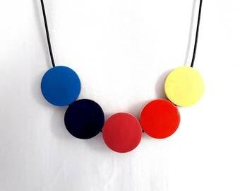 Rainbow Necklace, Lesbian Bridesmaid Necklace, Rainbow Jewelry, Pride Jewelry, Wooden Necklace, Gay Pride Necklace, LGBT Necklace