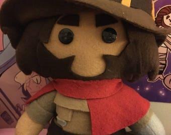 McCree Overwatch Fleece Plush Doll