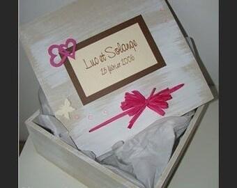 """""""Luke and solange"""" wedding keepsake box"""