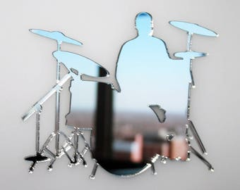 Drummer Drum Kit Mirror - Available in various sizes