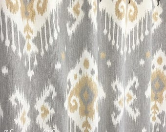 Sale Gray Shower Curtain Ikat Shower Curtain Fabric Shower Curtain 72 X84  108 Extra Wide Shower