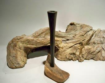 Wooden cigarette holder, bog oak wood, 6 mm filter, slim filter