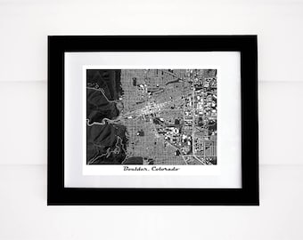 Boulder Map Print, Colorado, CU, Flatirons, More Colors!