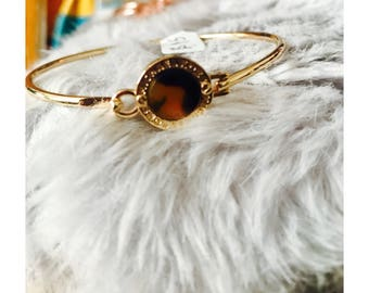 Gold/Marble Bangle