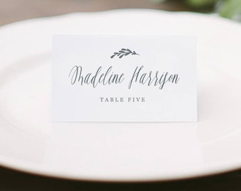 Printable Place cards Template, Wedding Place Cards, Calligraphy Place Cards, Rustic Place Cards| Edit in Word and Pages