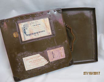 Antique fiberbuilt 16mm film reel shipping case
