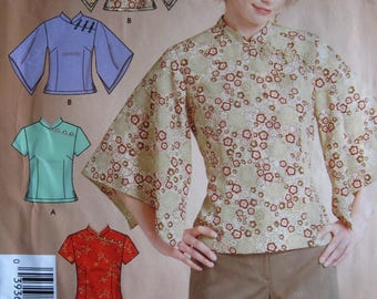 Misses' Oriental Style Top – It's So Easy It's Simplicity 4933 - UNCUT Sewing Pattern – Size A 6 - 16