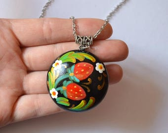 jewelry necklace black red Pendant kawaii garden jewelry woodland Jewelry Multicolor flower necklace holiday gift boho Jewelry birthday gift