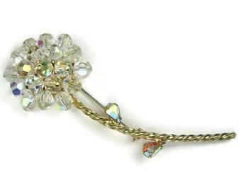 Alice Caviness Crystal Flower Brooch