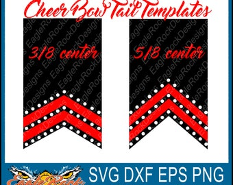 Cheer Bow Tails  SVG  DXF  EPS  Cut File  Rhinestone  Cameo and Cricut  Cheer  Cheer Mom  Cheer Bow  Cheer Bow Designs  Instant Download