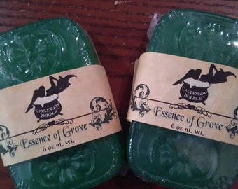 Essence of Grove Soap - Vegan Glycerin & Hemp Oil, Handmade, Bath and Body, Love Potion Magickal Perfumerie